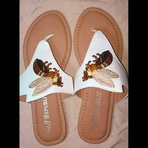 J Republic Letty Sandals | Color: White | Size 8 |